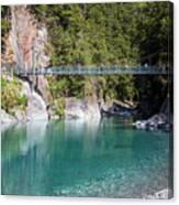 Blue Pools New Zealand Canvas Print