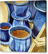 Blue Pots Canvas Print