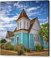 Blue Prairie Church Canvas Print