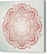 Blue Red Mandala Canvas Print