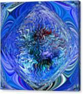 Blue Reflextions Canvas Print