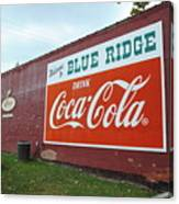 Blue Ridge Coke Canvas Print