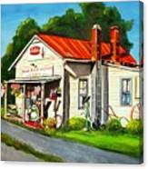 Blue Ridge Grocery Canvas Print