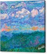 Blue Ridge Magic From Sharp Top Stage One Canvas Print