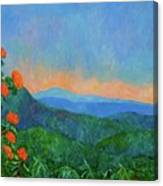 Blue Ridge Morning Canvas Print