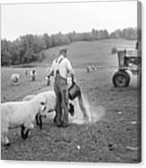 Blue Ridge Mountain Farmer Canvas Print