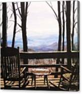 Blue Ridge Mountain Porch View Canvas Print