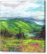 Blue Ridge Mountains Near Asheville Canvas Print