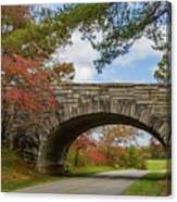 Blue Ridge Parkway Stone Arch Bridge Canvas Print