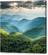 Blue Ridge Southern Appalachian Mountain Light Show Canvas Print