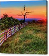 Blue Ridge Sunrise At Doughton II Canvas Print