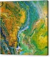 Blue River Thru Canvas Print