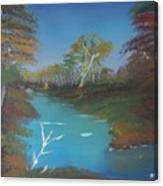 Blue River Two Canvas Print