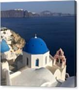 Blue Roofs Canvas Print