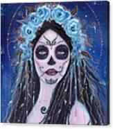 Blue Rosie Canvas Print