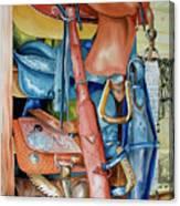 Blue Saddle Canvas Print