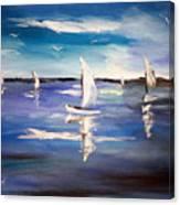 Blue Sailing Canvas Print