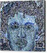Blue Self Portrait Canvas Print