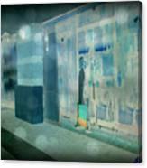 Blue Shopper Canvas Print