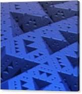 Blue Sierpinski Canvas Print