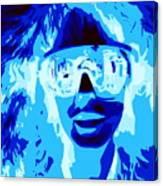 Blue Skier Bob Canvas Print