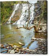 Blue Skies Over Ithaca Falls Canvas Print