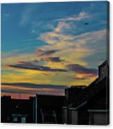 Blue Sky Colorful Sunset Canvas Print