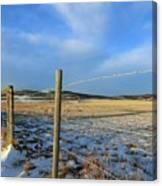 Blue Sky Fence Line Canvas Print