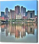 Blue Sky Reflecting Water Canvas Print