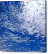Blue Sky With Clouds Canvas Print
