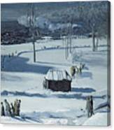 Blue Snow, The Battery Canvas Print
