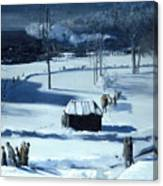 Blue Snow. The Battery Canvas Print