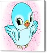 Blue Song Bird Canvas Print