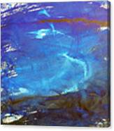 Blue Space Water Canvas Print