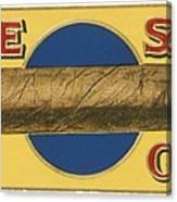 Blue Spot Cigars Canvas Print