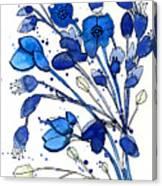 Blue Spray Canvas Print