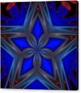 Blue Star Canvas Print
