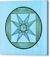 Blue Star Om Canvas Print