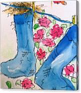 Blue Stockings Canvas Print
