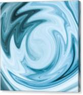 Blue Swirl Canvas Print