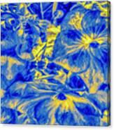 Blue Tango Floral Canvas Print