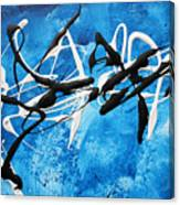 Blue Texture By Madart Canvas Print