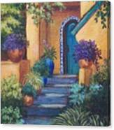 Blue Tile Steps Canvas Print
