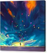 Blue Tornado Canvas Print