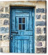 Blue Traditional Door Canvas Print