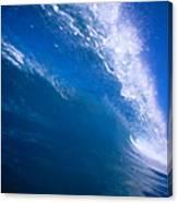 Blue Translucent Wave Canvas Print