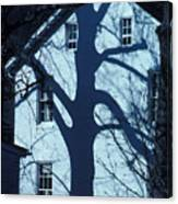Blue Tree House Canvas Print