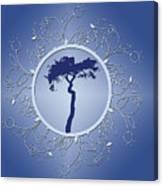 Blue Tree Of Life Canvas Print