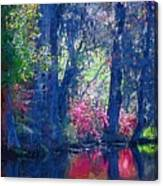 Blue Trees Canvas Print