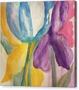 Blue Tulip And Iris Abstract Canvas Print